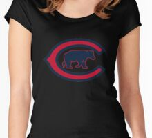 Chicago Cubs logo Women's Fitted Scoop T-Shirt