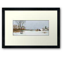 After snowfall Framed Print