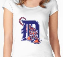 Detroit Tigers logo Women's Fitted Scoop T-Shirt