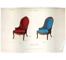 Le Garde Meuble Desire Guilmard 1839 0157 High Style Seat Furniture Interior Design Poster
