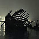 At the old shipwreck-II by Frank Olsen