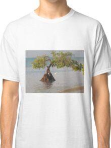 Oil Painting Seaside Tree Classic T-Shirt