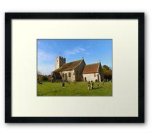 A Church of Flint Framed Print