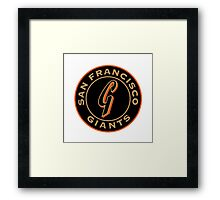 San Francisco Giants logo Framed Print