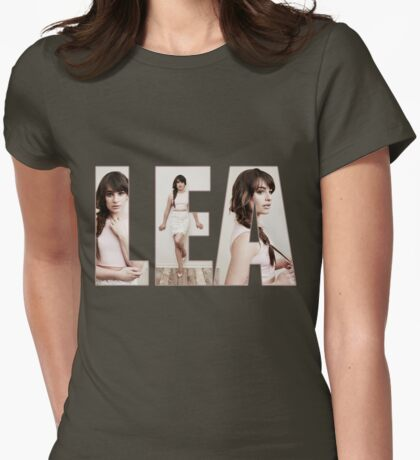 Lea Michele Womens Fitted T-Shirt