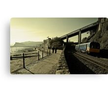 Rounding the Curve at Teignmouth Canvas Print