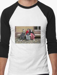 Ladies on a Bench Men's Baseball ¾ T-Shirt