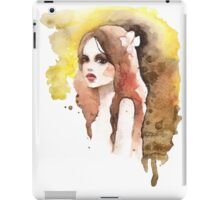 Romantic girl. Colored iPad Case/Skin