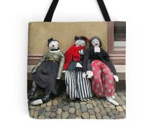 Ladies on a Bench Tote Bag