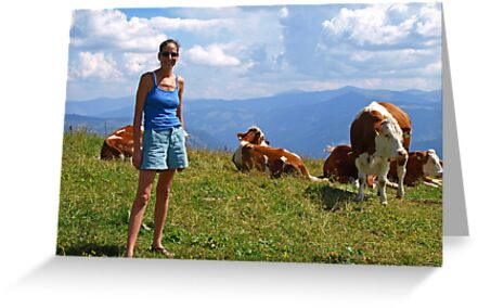 Me with cows in Heaven...... by Lee d'Entremont