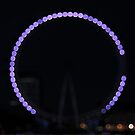 London Eye at Night by Kasia Nowak