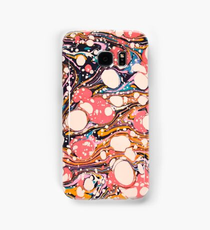 Psychedelic Retro Marbled Paper Samsung Galaxy Case/Skin