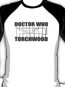 Doctor Who And Torchwood T-Shirt