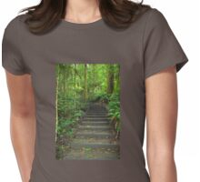 Nature's walk - step by step Womens Fitted T-Shirt