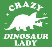 Crazy Dinosaur Lady One Piece - Short Sleeve