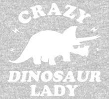 Crazy Dinosaur Lady One Piece - Long Sleeve