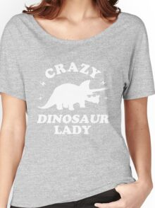 Crazy Dinosaur Lady Women's Relaxed Fit T-Shirt
