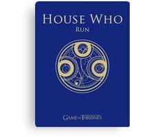 HOUSE WHO Canvas Print