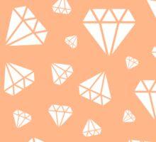 Peach Faceted Diamonds Pattern Sticker