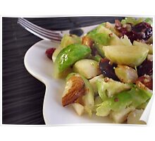 Warm Brussels Sprouts Salad Poster