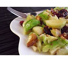 Warm Brussels Sprouts Salad Photographic Print