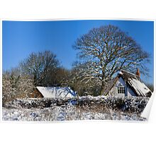 Winter Cottage Poster