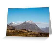 A mountain view Greeting Card