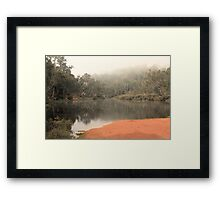 Misty Morning, Bridgetown, Western Australia Framed Print