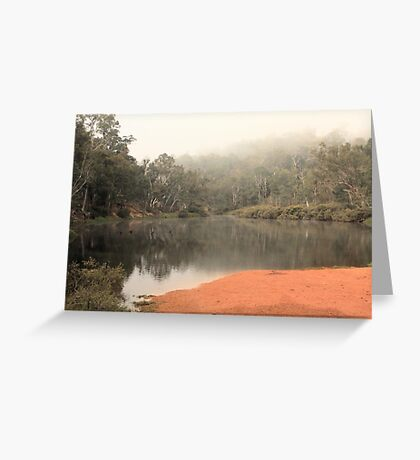 Misty Morning, Bridgetown, Western Australia Greeting Card