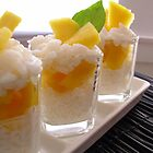 Sticky Rice & Mango Shots by Kimberly Morales