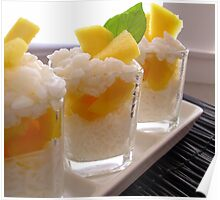 Sticky Rice & Mango Shots Poster