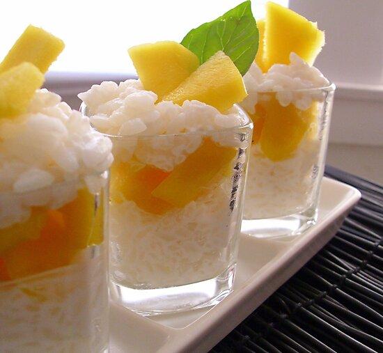 Sticky Rice & Mango Shots by Kimberly Morales