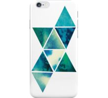 Geometric watercolour design iPhone Case/Skin