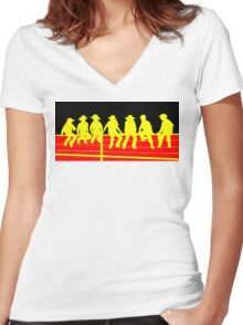 Junior Cowboys Women's Fitted V-Neck T-Shirt
