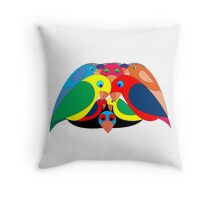 Colourful parrots Throw Pillow