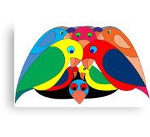 Colourful parrots Canvas Print