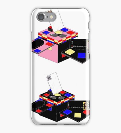 Retro Classics Design Box iPhone Case/Skin