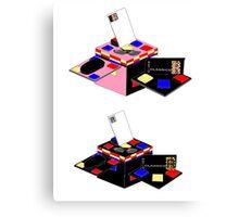 Retro Classics Design Box Canvas Print