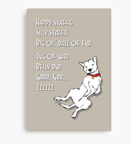 Happy Staffie Silly Staffie Canvas Print