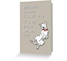 Happy Staffie Silly Staffie Greeting Card