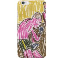 Drawing: Francis Bacon Archive I (2010) (Boxing) iPhone Case/Skin