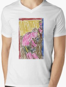 """Drawing: """"Francis Bacon Archive I (2010) (Boxing)"""" by artcollect Mens V-Neck T-Shirt"""