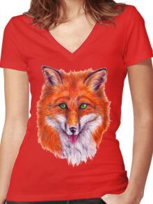 Foxy Fox Women's Fitted V-Neck T-Shirt