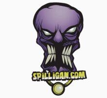 spilligan, shrunken skull sticker by Steve Failla