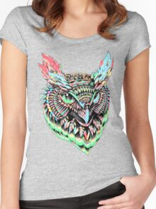 Ornate Owl Pastel Women's Fitted Scoop T-Shirt