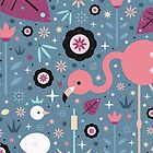 Flamingo & Chick  by CarlyWatts