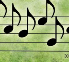SCIENCE  - Words in Music Geen Background - V-Note Creations Sticker