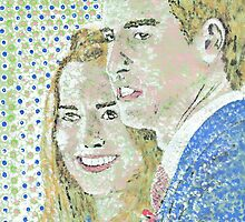 Prince William and kate Middleton by George Coombs