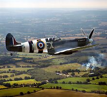 Spitfire over West Sussex by Paul Rumsey