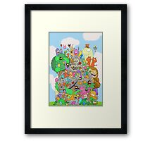All Kinds of Critters Framed Print